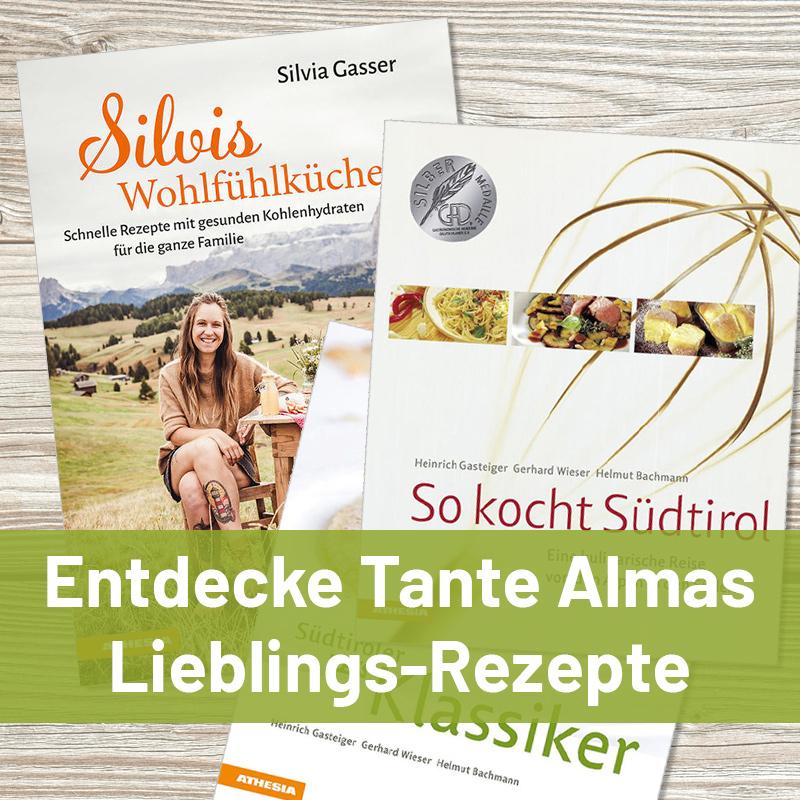 Rezeptbücher für Südtiroler Küche