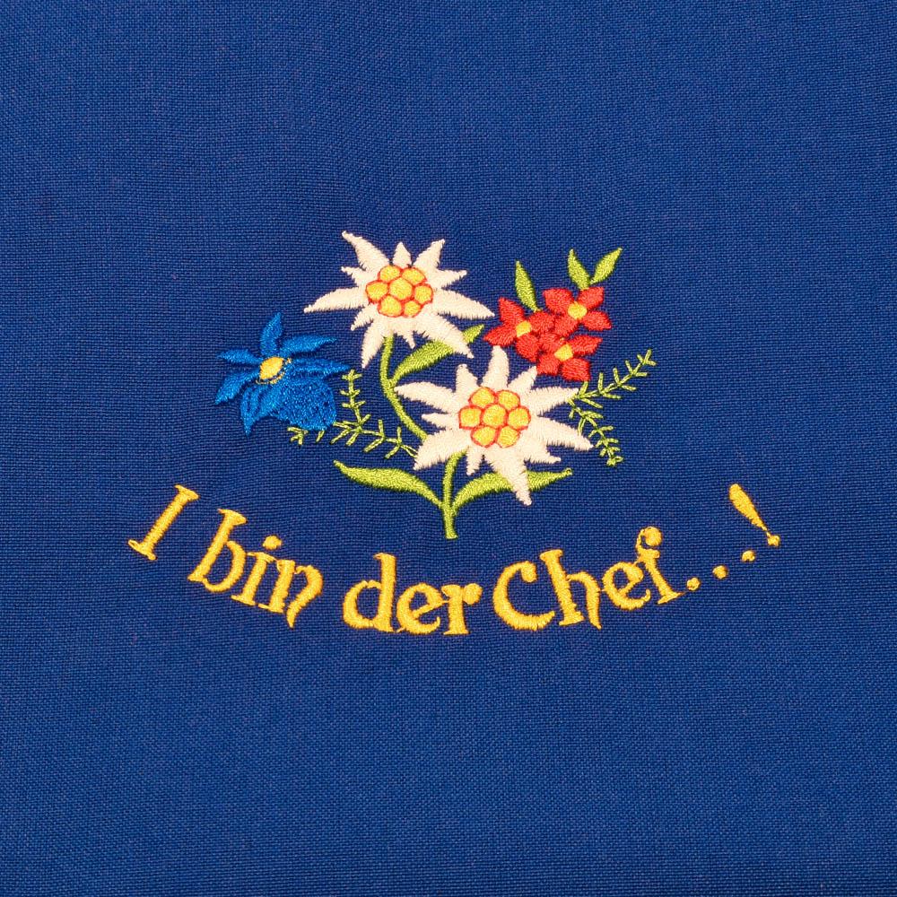"""Südtiroler Bauernschürze """"I bin der Chef..!"""""""
